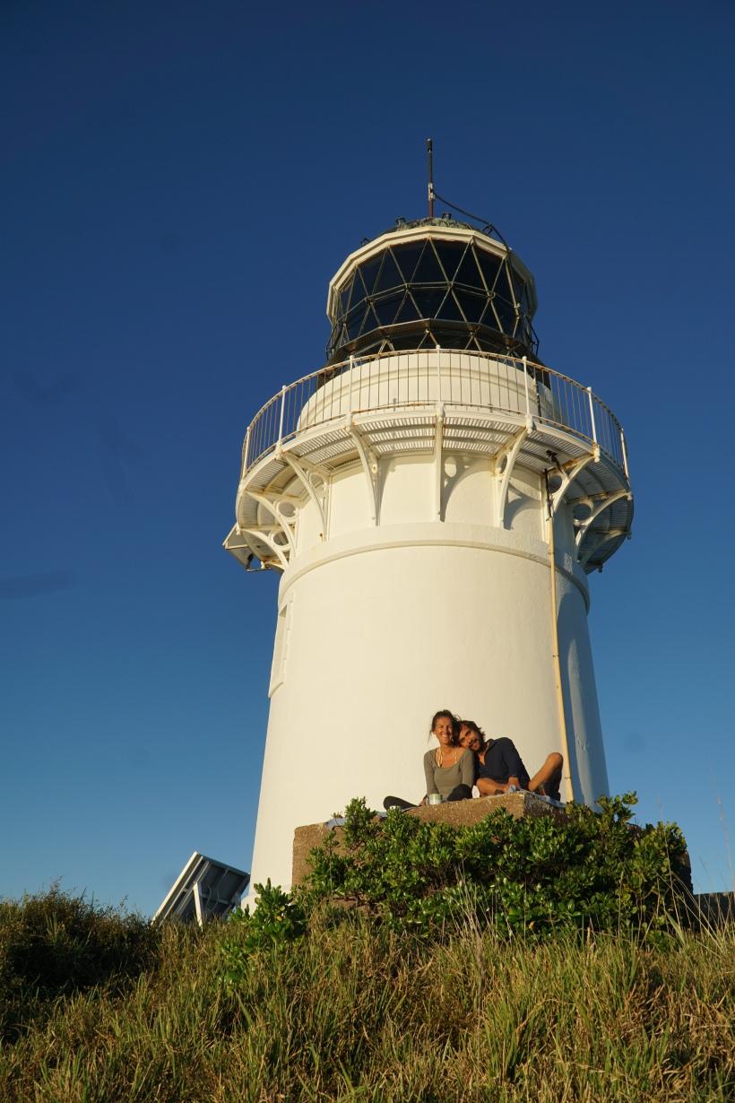 Lighthouse at Burgess Island, Mokohinaus, New Zealand while sailing around New Zealand