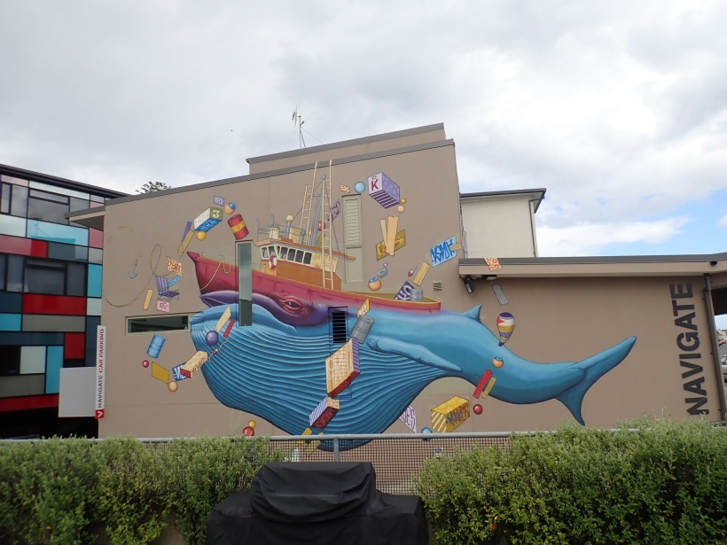 When in Napier ... we also took a bit of time to explore the city and love the murals raising awareness for the challenges our oceans have to face spread across the city.